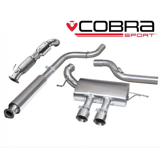 Cobra Genuine Turbo Back Exhaust (with Sports Catalyst & Resonator) ST250 Hatch