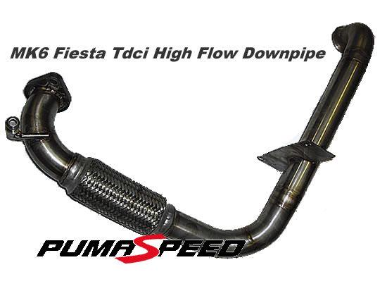R-Sport Fiesta Mk6 TDCi High Flow De Cat Down Pipe Mk.6 Zetec-S TDCi
