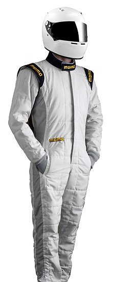 MOMO XL ONE FIREPROOF RACE SUIT - WHITE