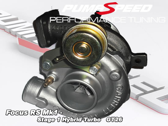 PumaSpeeds Focus RS Stage 1 Hybrid Turbocharger GT26 - Ford Focus RS Mk1 2003