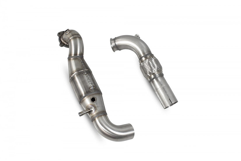 SCORPION DOWNPIPE WITH HIGH FLOW SPORTS CATALYST