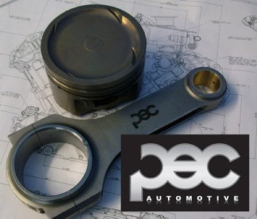 x5 PEC Steel Con Rod & Supertech Piston Set Package Focus RS Mk2