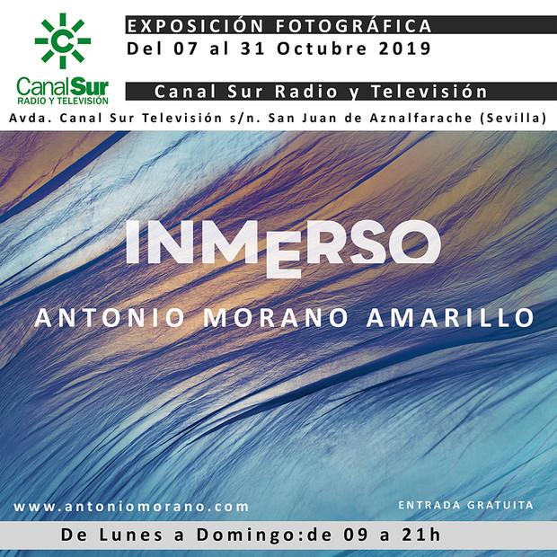 """Exposición fotográfica """"Inmerso"""", de Antonio Morano en Canal Sur San Juan de Aznalfarache (Sevilla)."""