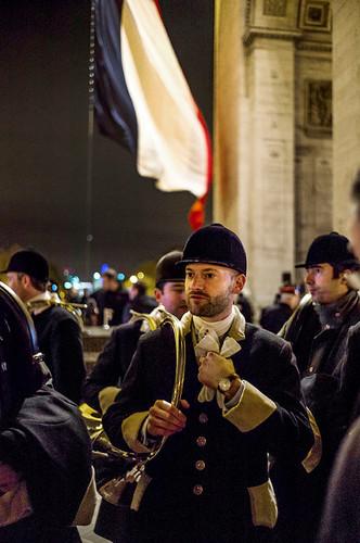 Ravivage de la Flamme du Soldat inconnu Arc de Triomphe de Paris 11 novembre 2013 Photo © Olivier Martel