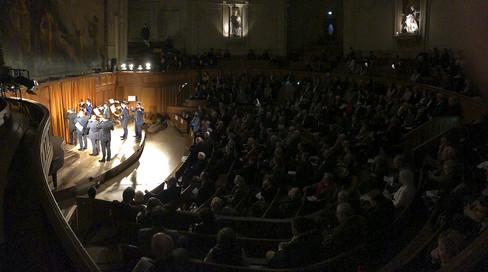 """Colloque Frtm Fitf """"La Trompe de chasse Ad Libitum"""" Amphithéâtre Guizot de la Sorbonne 26 janvier 2018 Photo © Claude-Matthieu Pezon"""
