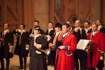 Concert pour trompes de chasse Manège Royal de Versailles 12 novembre 2016 Photo © Olivier Bizard