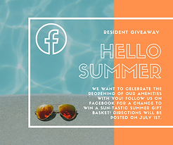 FB contest template with a pool and sunglasses