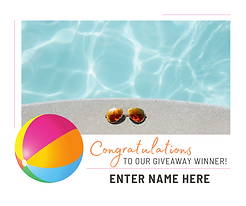 FB contest template with pool, sunglasses and beach ball