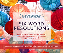 Contest template wiht colorful lanterns