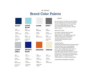 PE-Impact Brand Color Palette