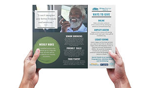 DAS tri-fold brochure being held by two hands