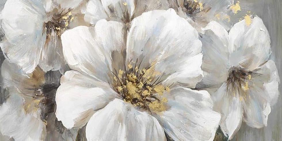 """Арт-вечеринка """"Белые цветы"""" 2000 руб."""