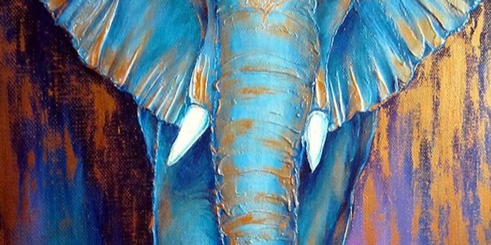 """Арт-вечеринка """"Индийский слон""""  2100 руб. ИМЕРЕТИНКА"""