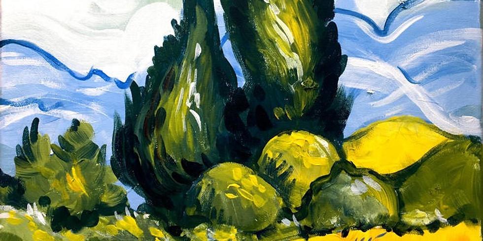 """""""Van Gogh"""" Цена 2500 руб. с ужином"""