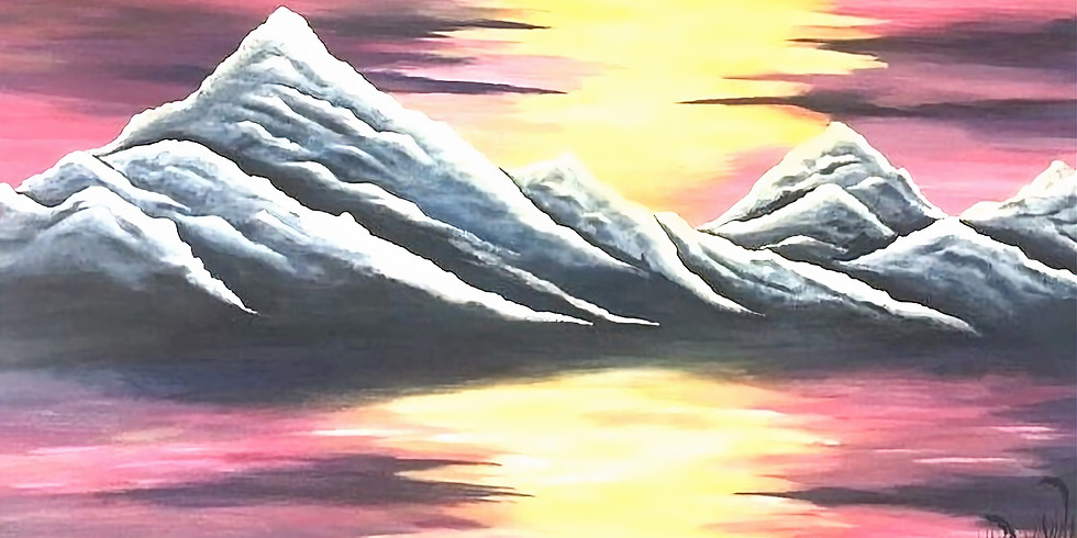 """Закат в горах"""