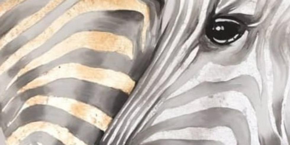 """Арт-вечеринка """"Влюбленные зебры"""" 2000 руб."""