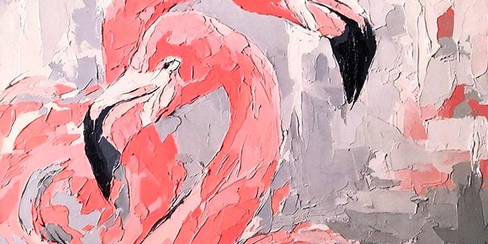 """Арт-вечеринка """"Влюбленные фламинго"""" 500 руб."""