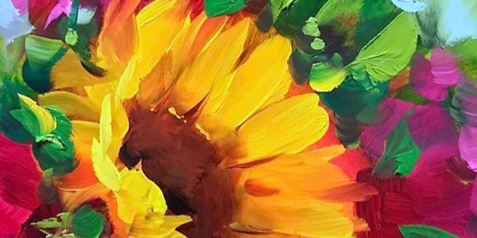"""Арт-вечеринка """"Цветок солнца"""" 2000 руб."""