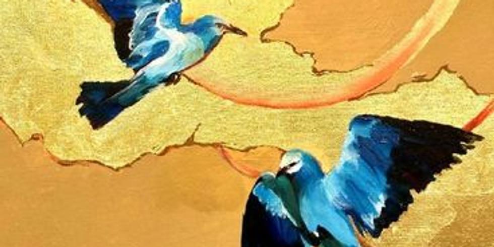 """Арт-вечеринка """"Птицы счастья"""" 2100 руб. СОЧИ"""