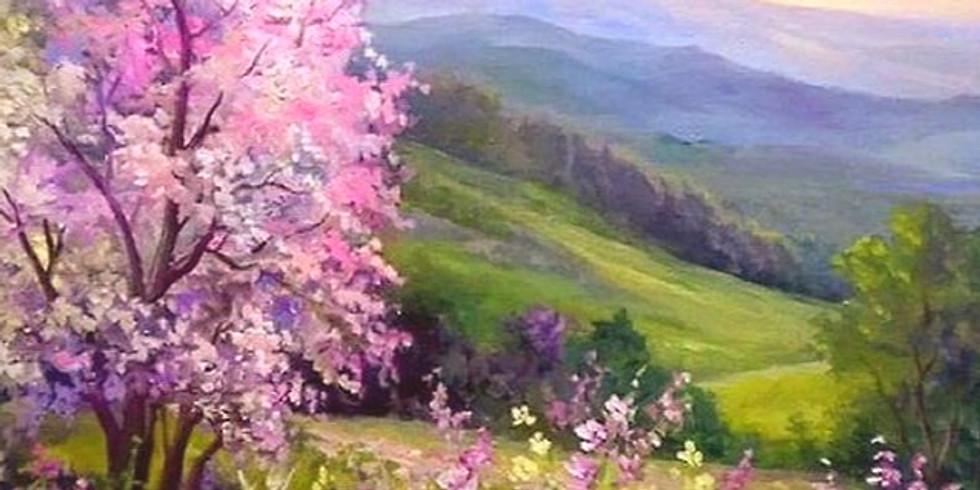 """Арт-вечеринка """"Весна в горах""""  2100 руб. ИМЕРЕТИНКА"""