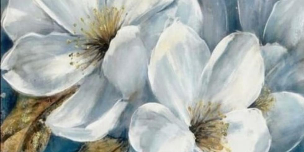"""Арт-вечеринка """"Белые цветы"""" 2000 руб. ИМЕРЕТИРНКА"""