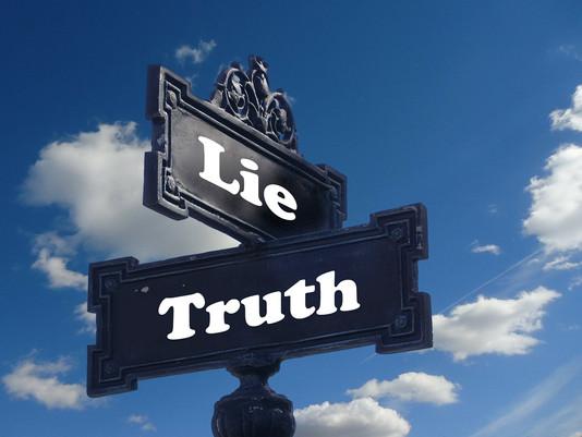 Le mensonge et la vérité (métaphore)