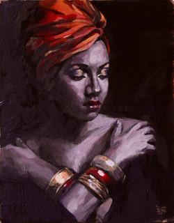 Girl with golden bracelets