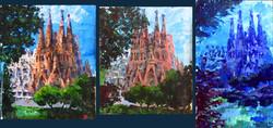 La Sagrada Familia. The light study