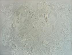 In white color (Monochromia)