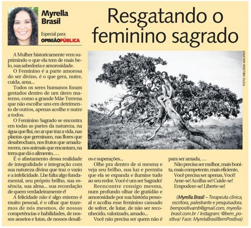 Diário da Manha Resgatando o Feminino Sa