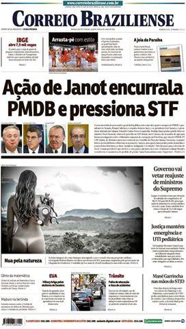 Capa Correio Braziliense 08.06.2016