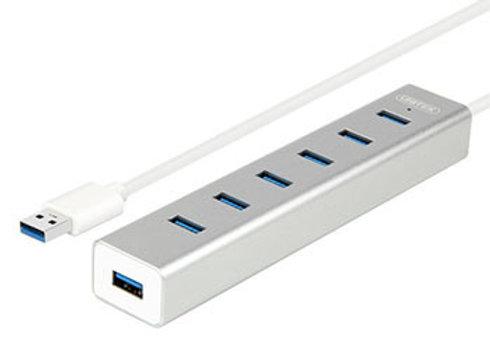 מפצל USB3.0 7-Port Aluminiumכולל ספק כח