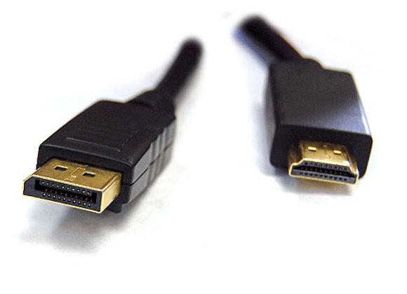 כבל 1.5M DisplayPort Male to HDMI Male