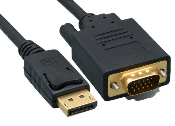 כבל DisplayPort to VGA Male