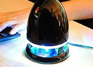 רמקול USB למחשב PROTEC שחור/לבן LED