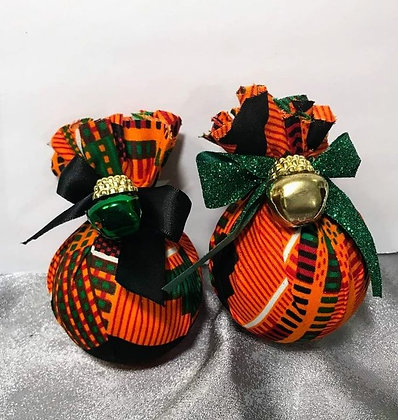 Orange Kente Ornament 12pk