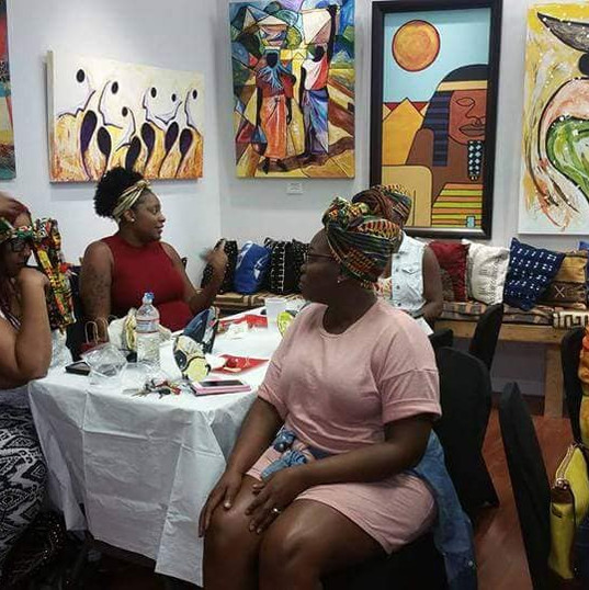 Group Headwrap Class at 3 Masks in Orlando