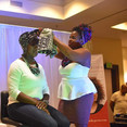 Headwrap presentation at Hair She Grows natural hair show