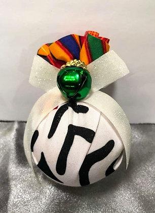 Zulu Zebra Ornament 12pk