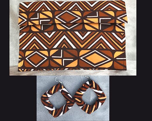 Sahara Clutch and Earring Set
