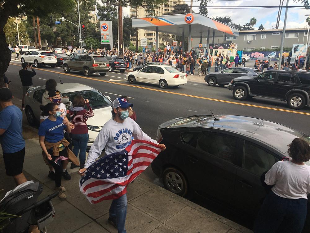 A neighborhood celebration in Los Angeles.
