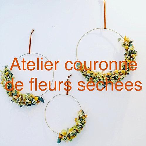 """L'atelier créatif """"Couronne de fleurs"""""""