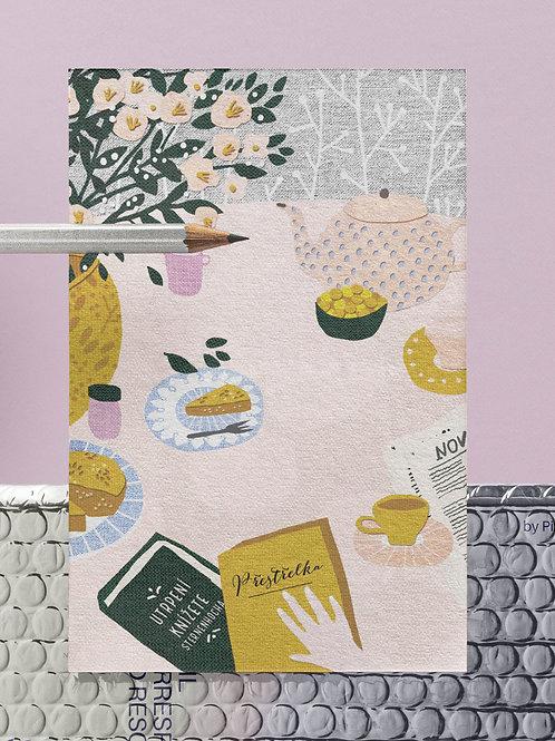 Tea party postcard / Pohlednice odpolední čaj