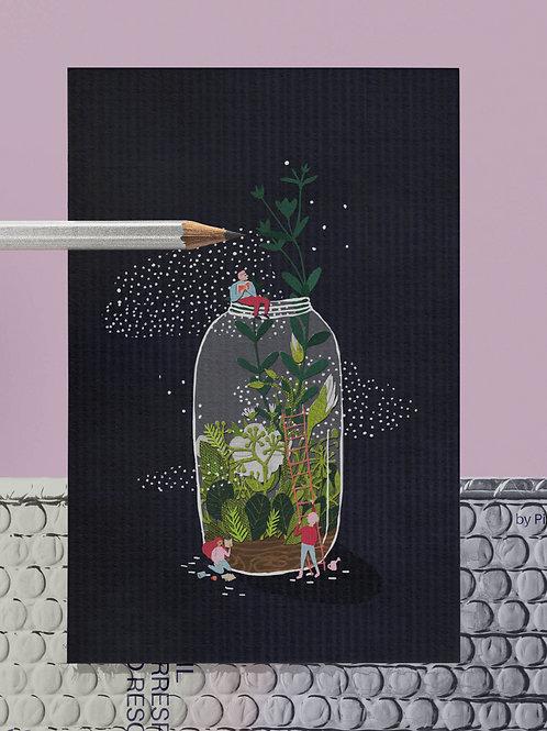 Greenhouse postcard / Pohlednice skleník