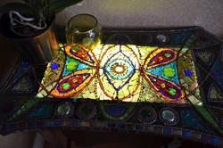 Mosaic 'light box' table