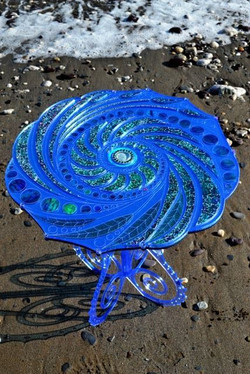 Sea-swirl table_ Hand made, Limited