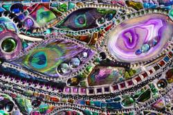 Purple Mosaic Mirror
