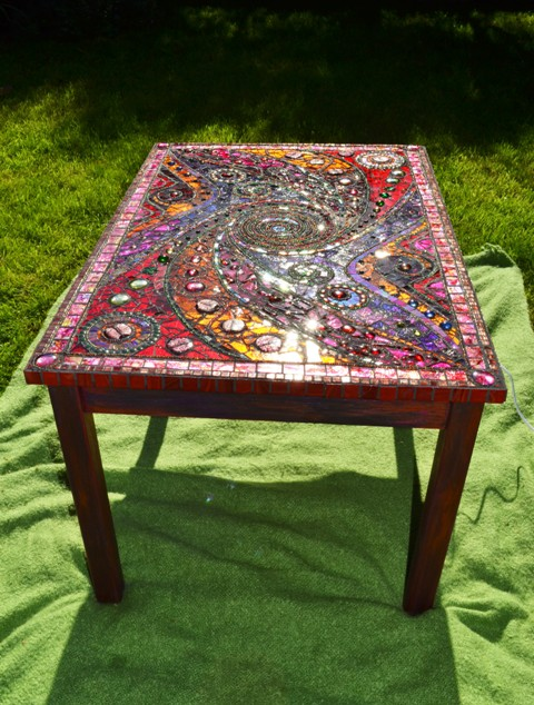 Mosaic, 'light box' table