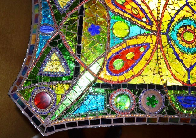 Mosaic 'light box' table