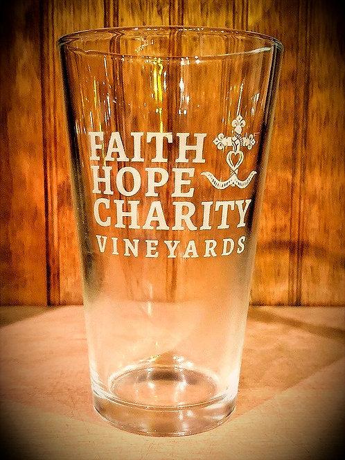 Faith Hope & Charity Pint Glass